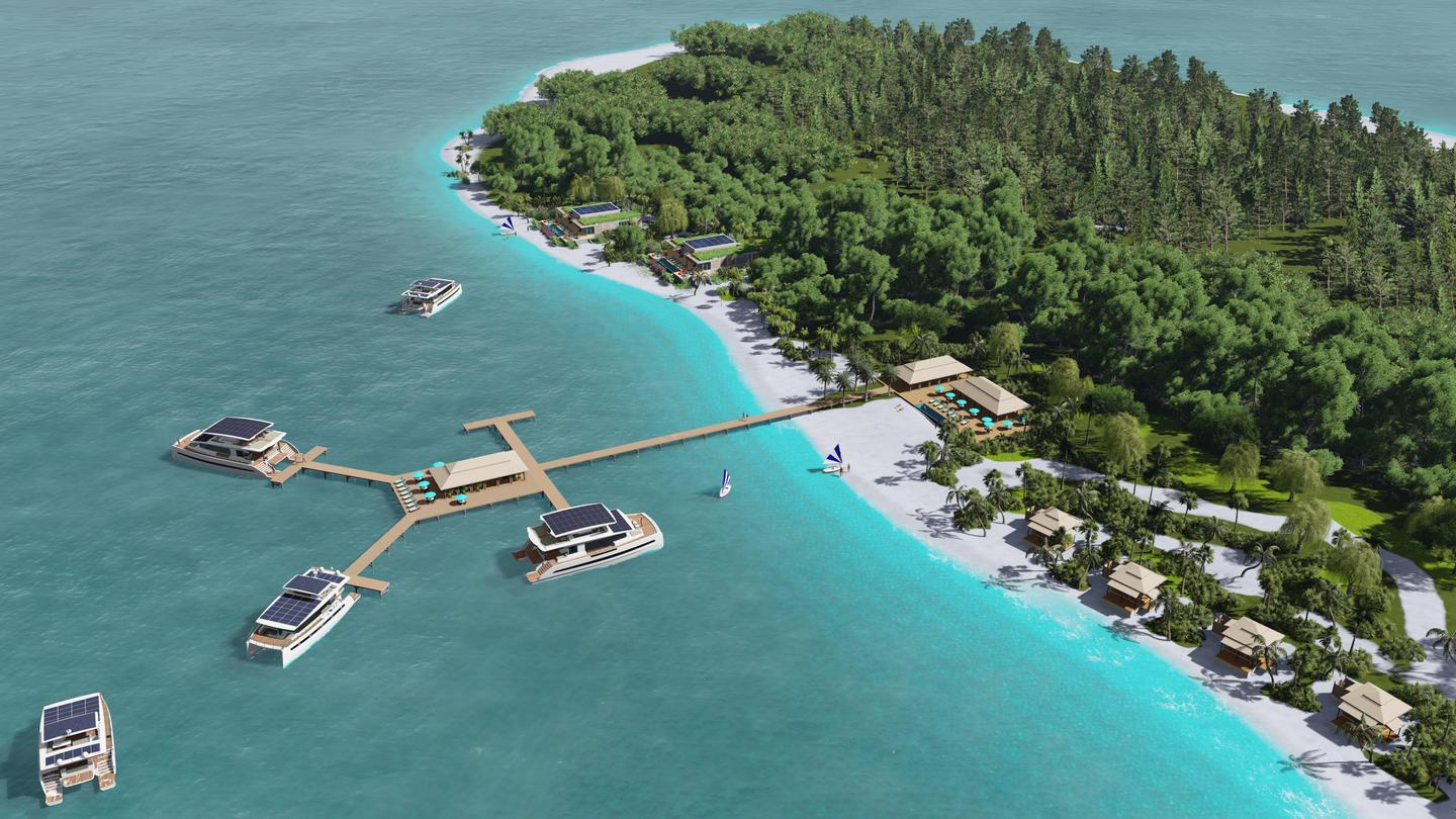 """Silent Yachts imagines turning private island waterfronts into flexible """"land and sea"""" resorts"""