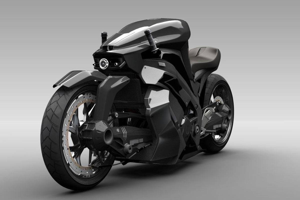 The Ostoure motorcycle concept was inspired by ancient Persian designs(credit: M. R. Shojaie)