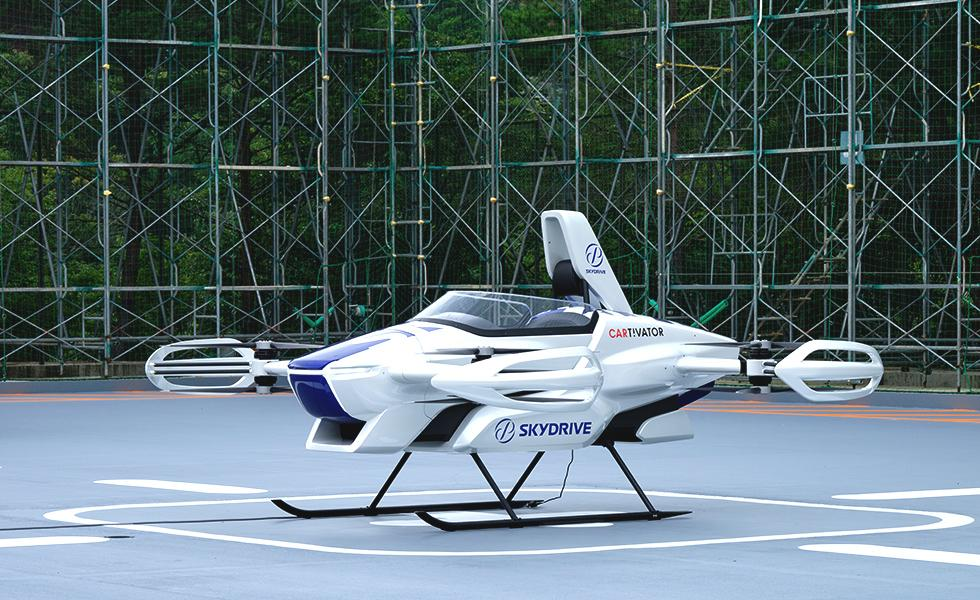 SkyDrive's SD-03 single-seat eVTOL aces first public test flight