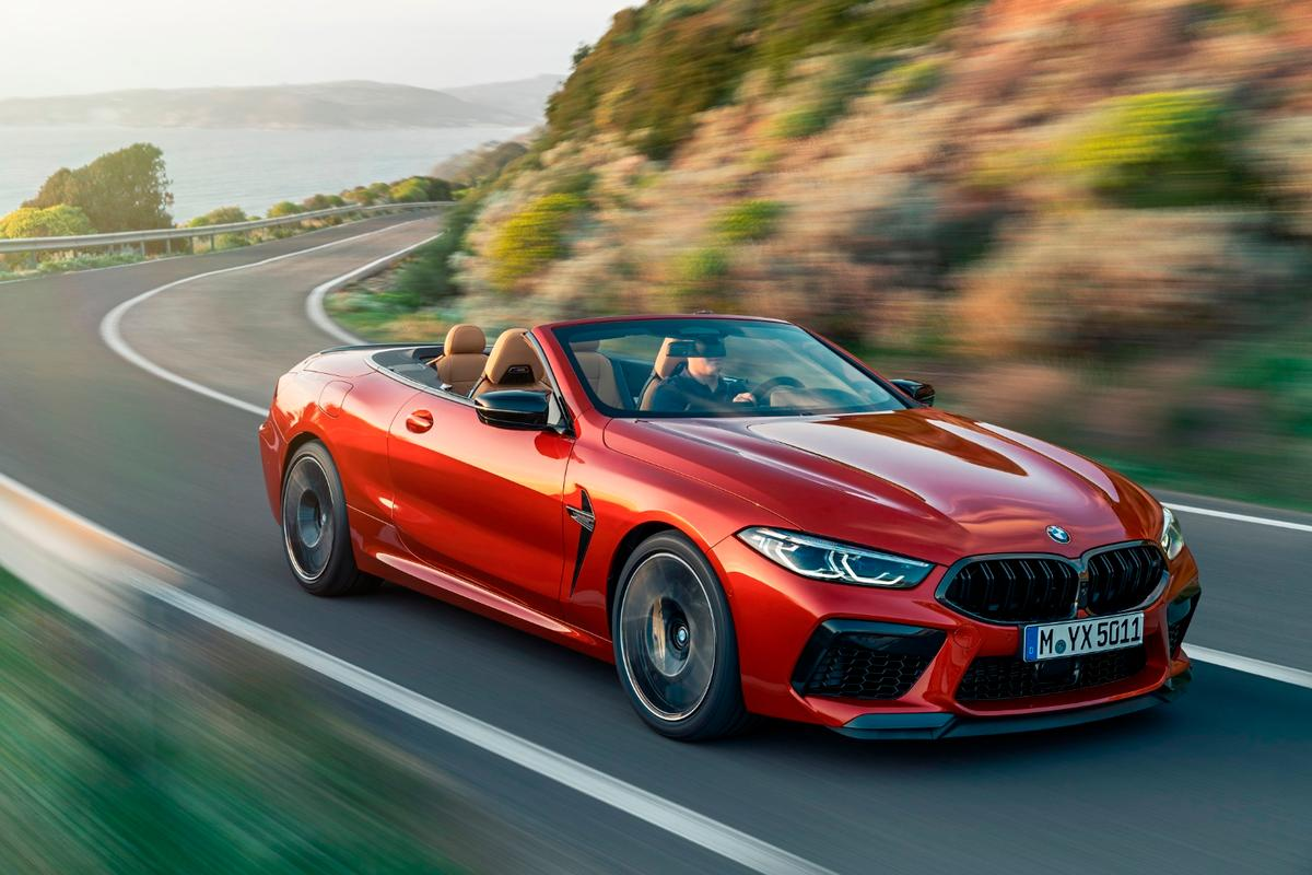 The M8 Convertible gets 625 horsepower in Competition spec