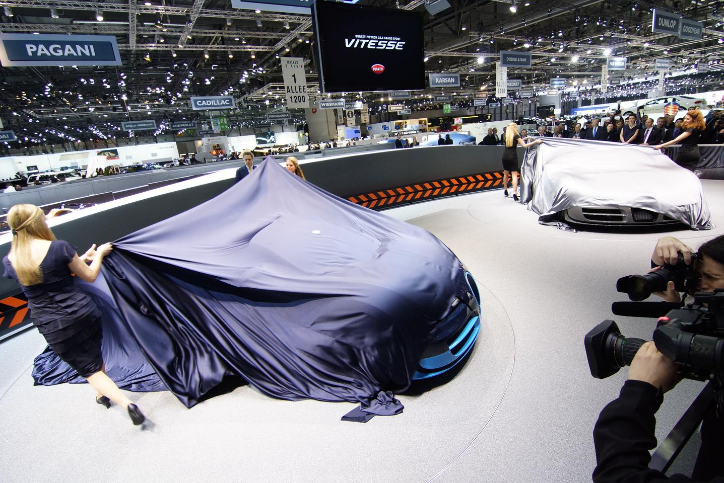 The Grand Sport Vitesse unveiling in Geneva