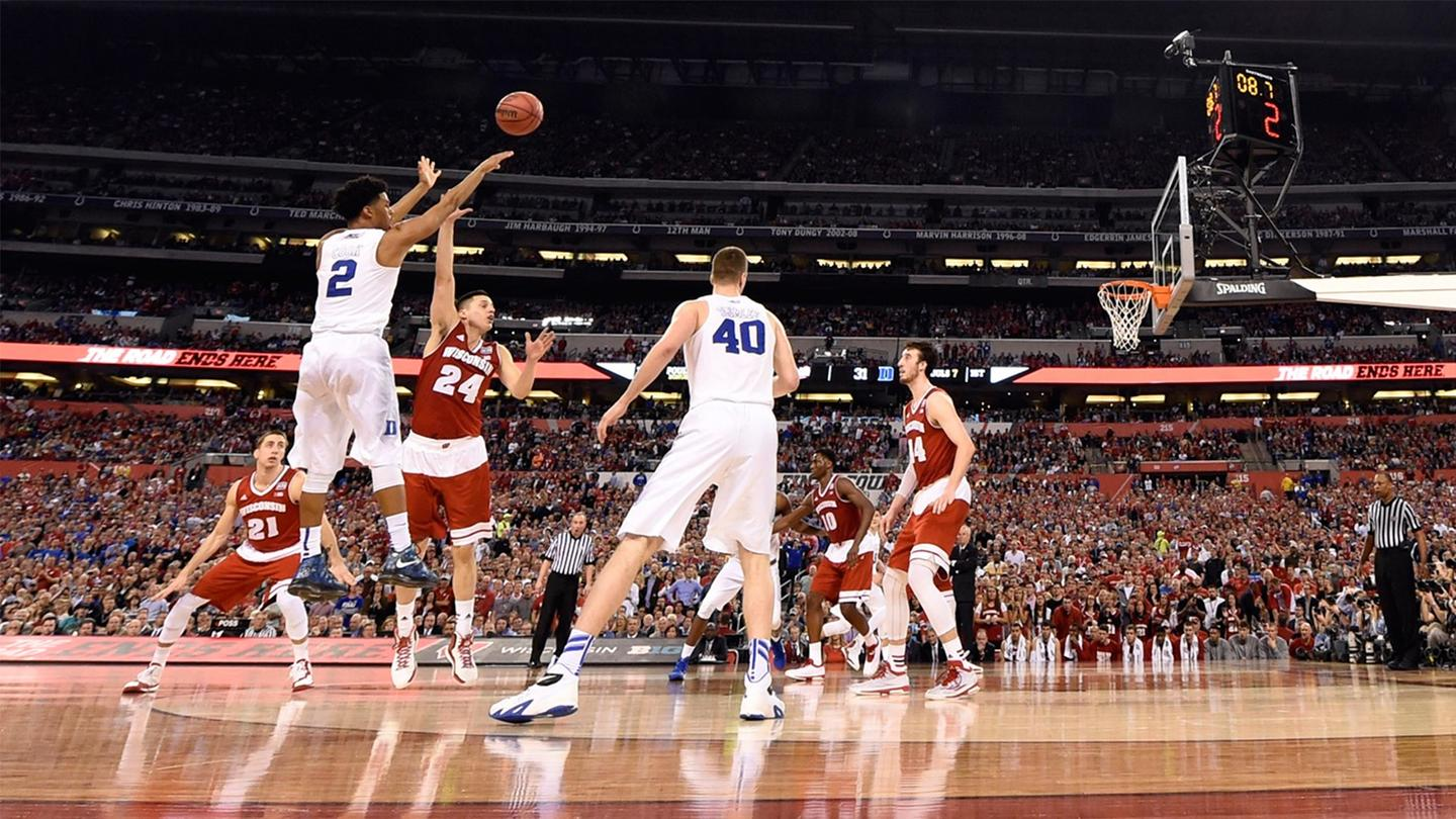 The NCAA March Madness Live app promises a court side view of the collegiate tournament