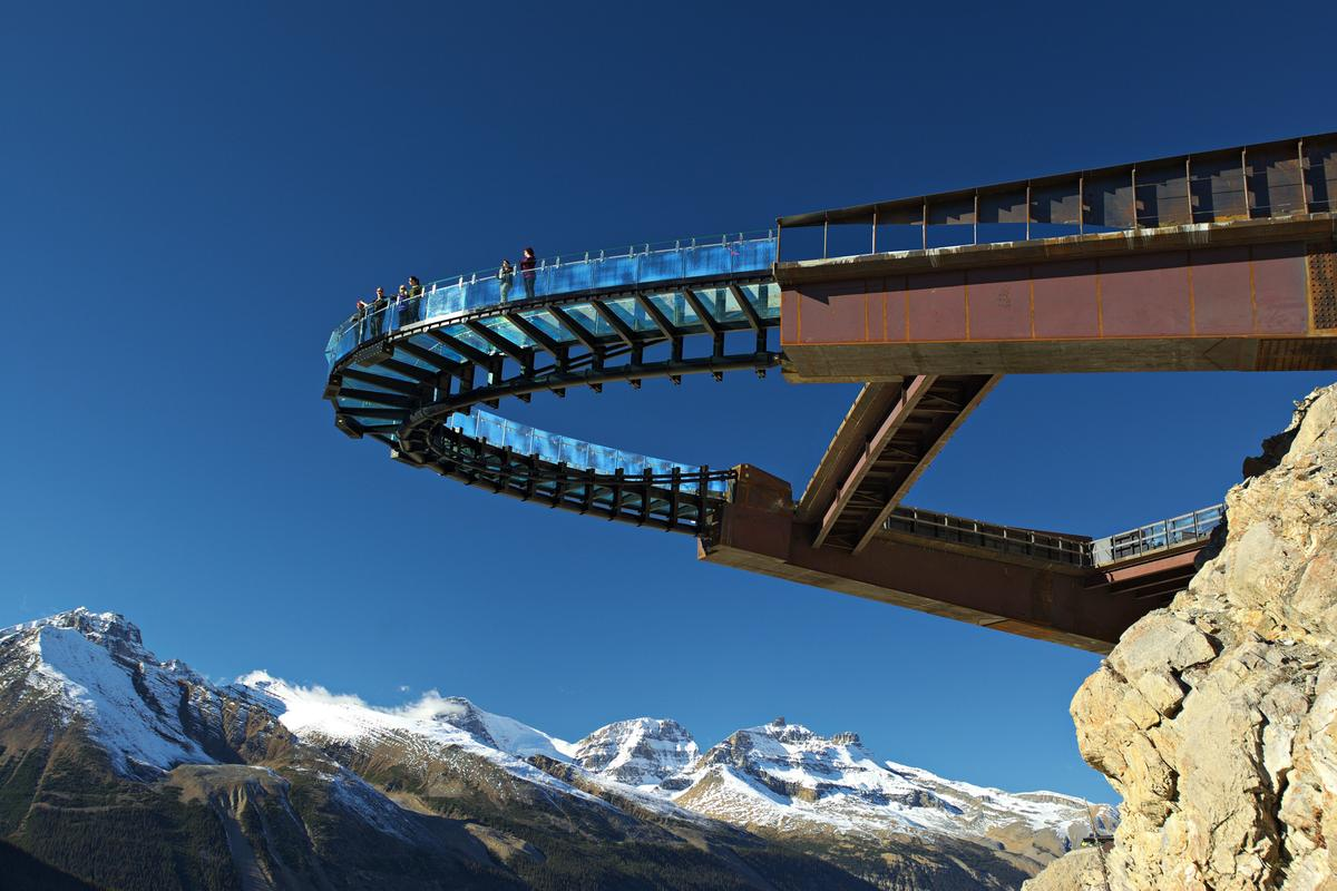 Hovering above the Columbia Icefield in the Canadian Rockies, the recently opened 'Glacier Skywalk' offers visitors a breathtaking experience (Photo: Brewster Travel Canada)
