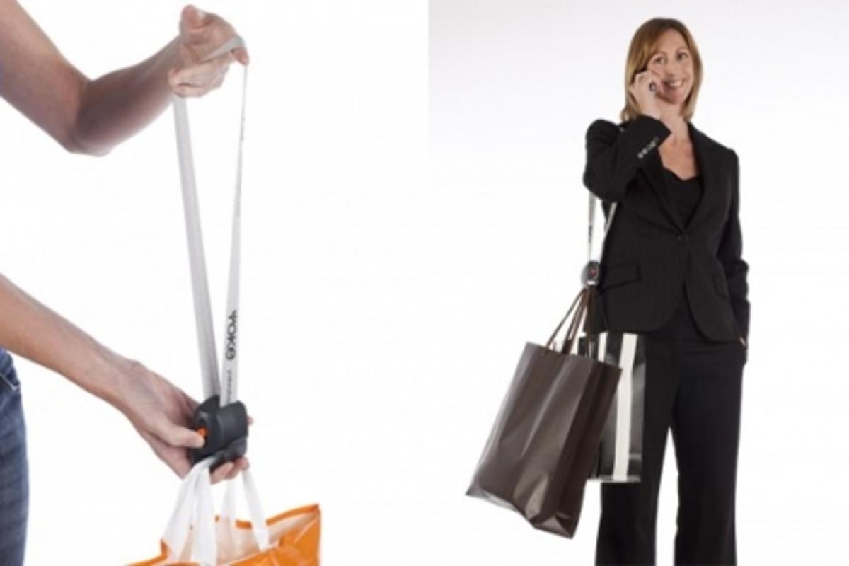 The Yoke Shopper is essentially a portable strap
