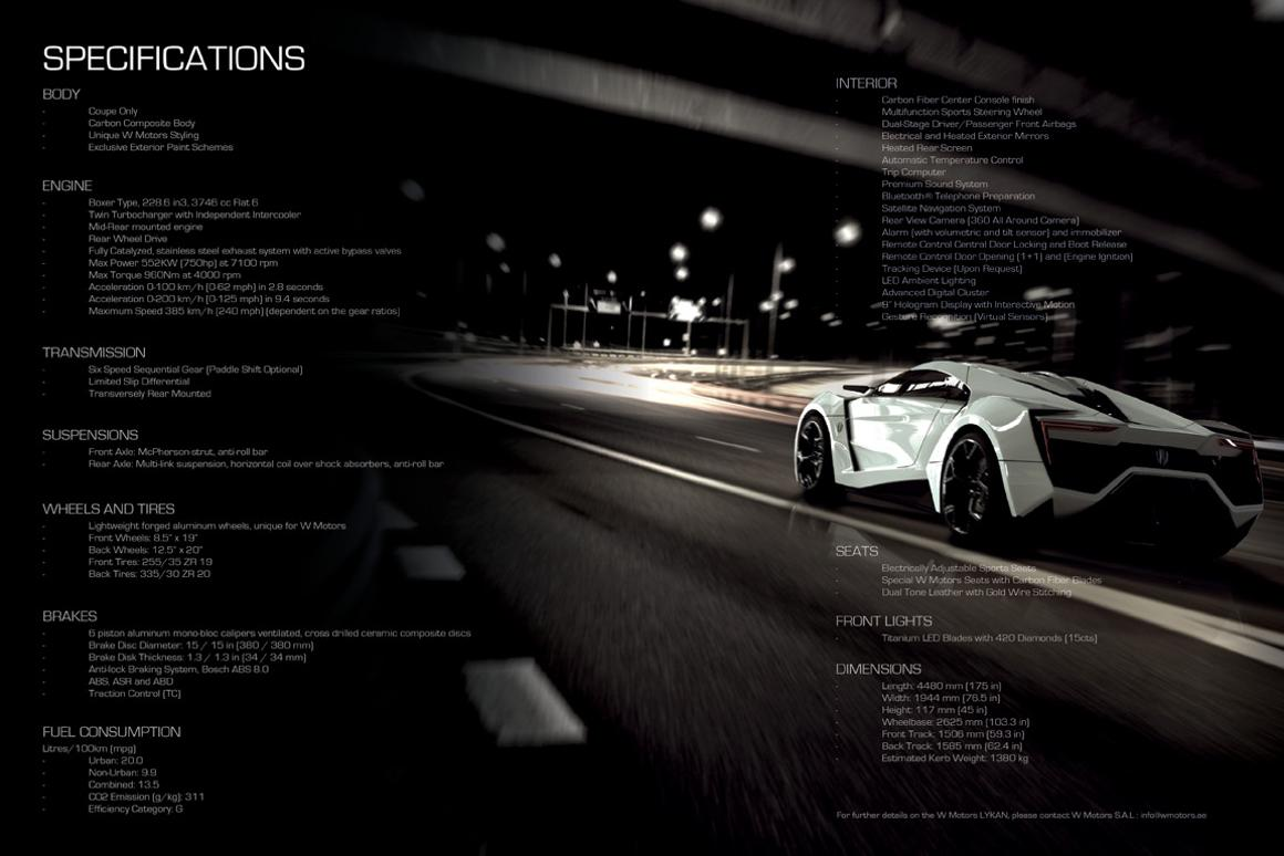 W Motors unveils US$3 4 million Lykan Hypersport