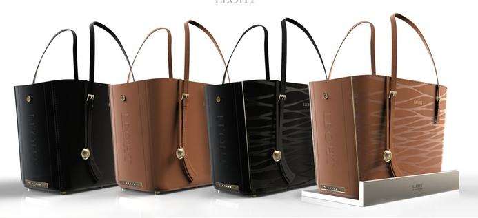 The Leoht Tote is available in two colors and two styles