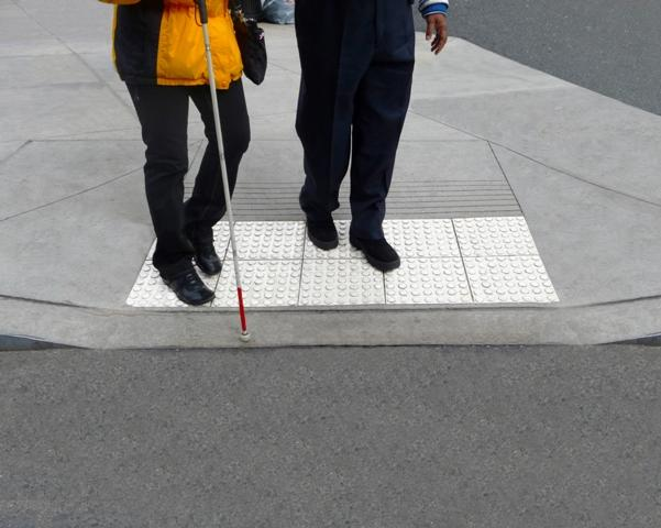 A conventional white cane (Photo: Ryxhd123)