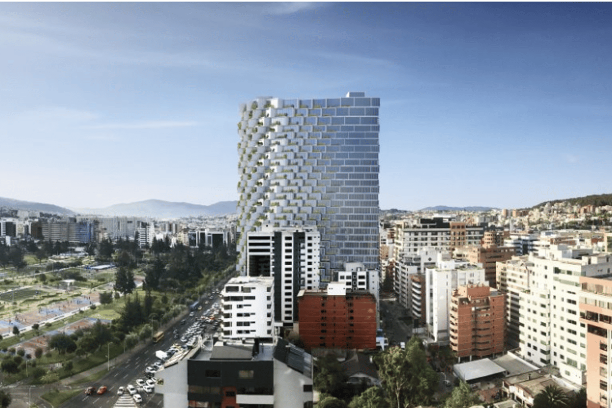 BIG's first footsteps in South America will plant a residential tower close to the equator