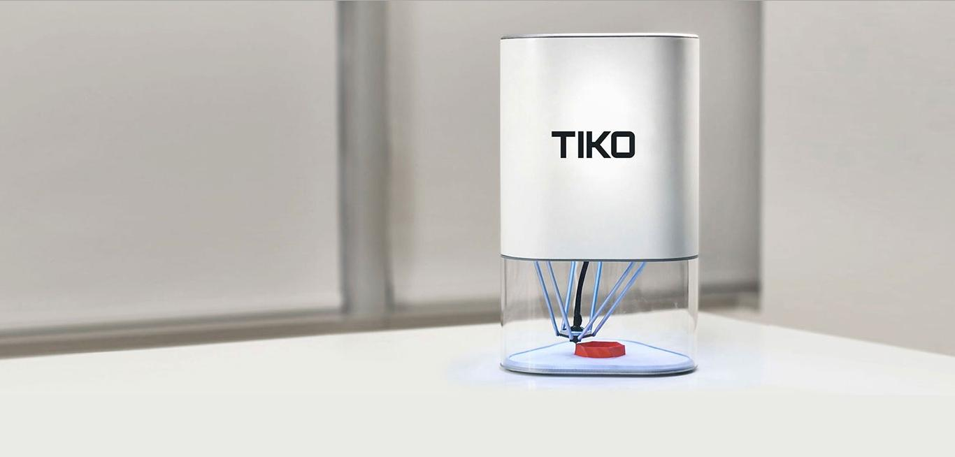 The Tiko 3D printer makes a number of interesting design choices to keep costs low and print quality high