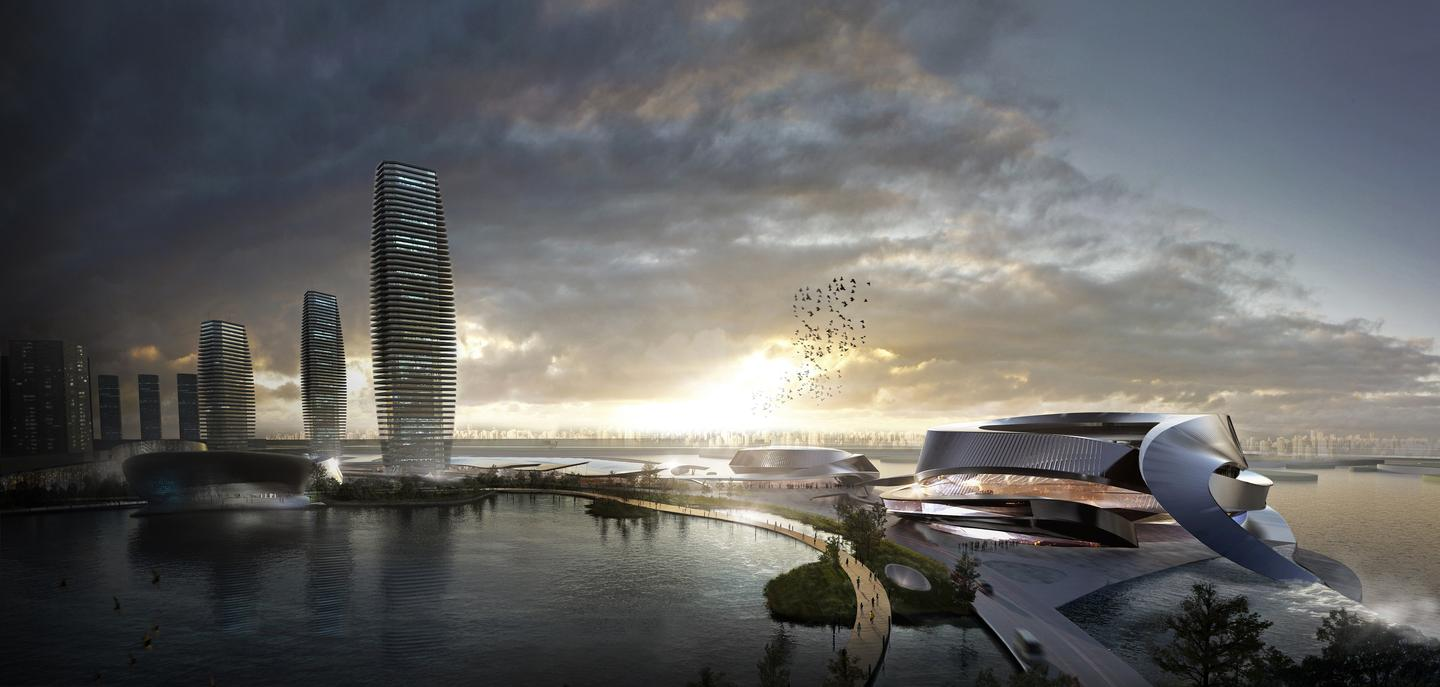 The 10 Design architectural firm has recently won the opportunity to master plan a 93-hectare (230-acre) waterfront central business district, as part of a new development for Pingtan in China (image: 10 Design)