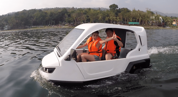 The Salamander is designed to be at home on the road and the water