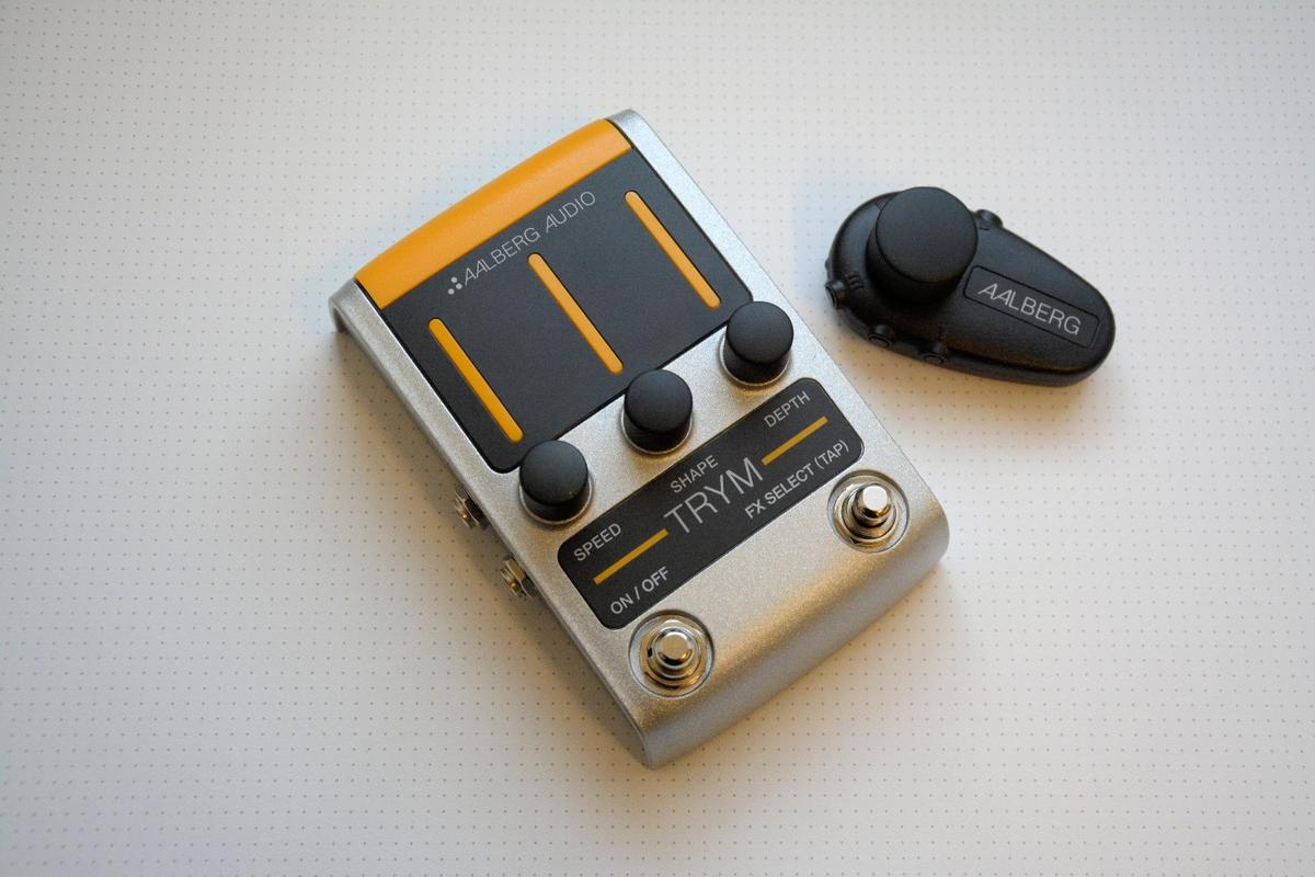 The Trym tremolo floor stomp and Aero wireless control unit from Aalberg Audio