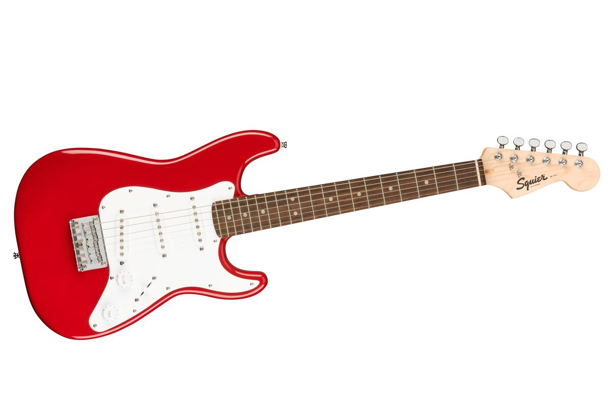 Fender has launched reduced-size versions of its iconic instruments under its Squier brand