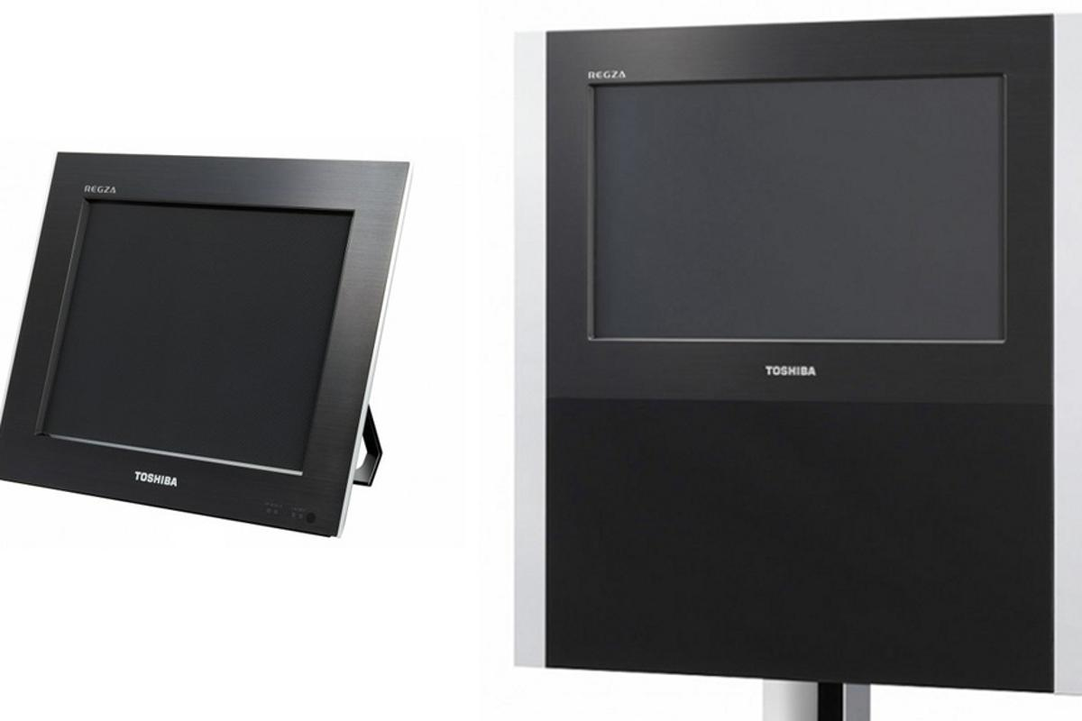 The 12-inch 12GL1 (left) and 20-inch 20GL1 (right) glasses-less 3D TVs from Toshiba