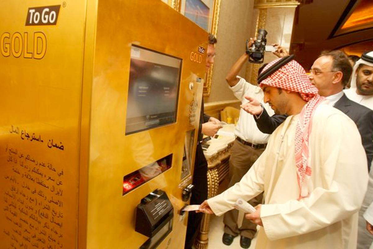 TG Gold-Super-Markt's GOLD To Go vending machine, at its Abu Dhabi unveiling