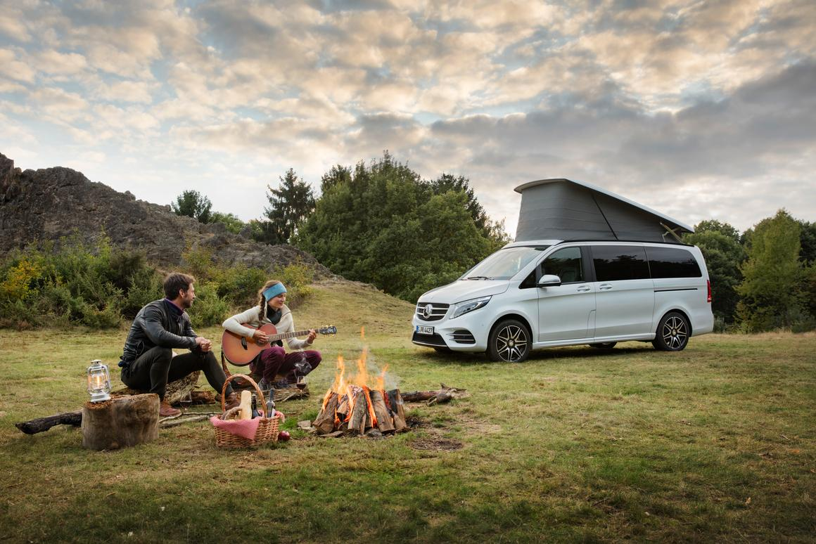 At camp with theMercedes Marco Polo Horizon
