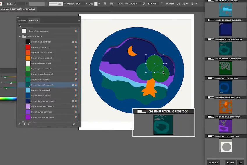 Fabricaide can be used in conjunction with design software such as AutoCAD, SolidWorks and Adobe Illustrator