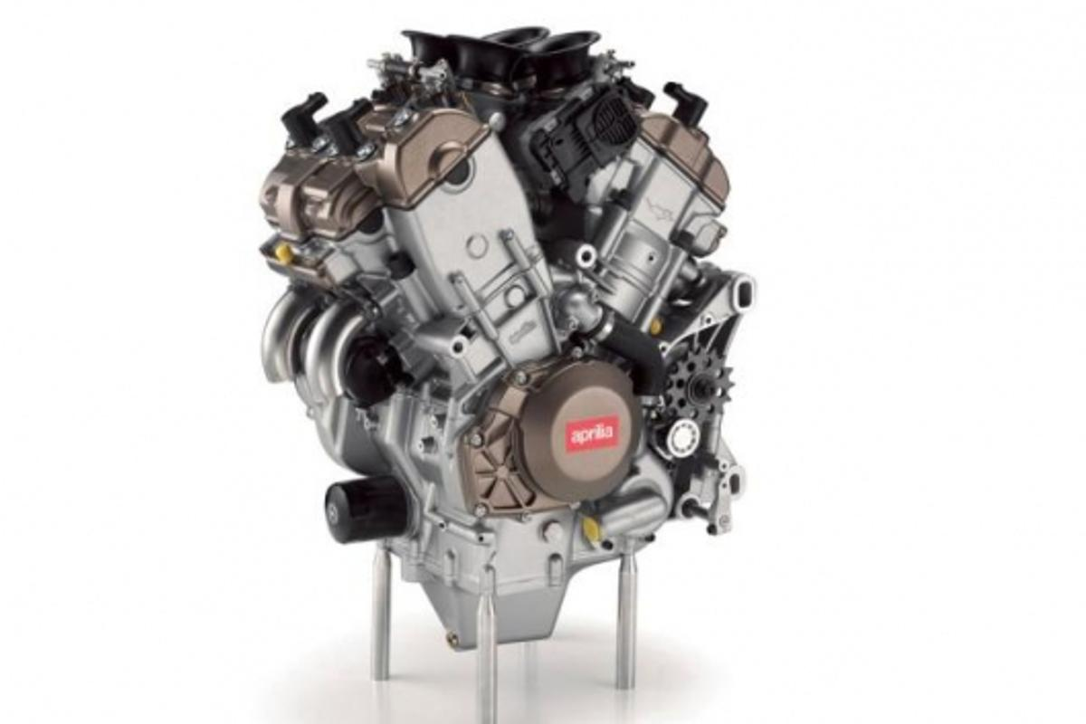 Aprilia's V4 superbike engine