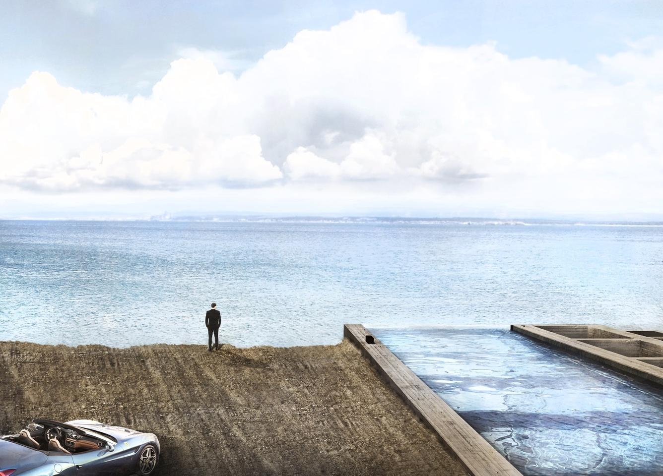 The home will face northwest into the Lebanese landscape and not the sea as shown in the renders