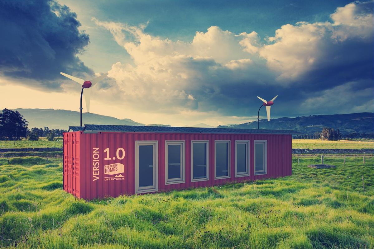 A one to two person 323 sq ft Sustainer Homes container home is available for €75,000