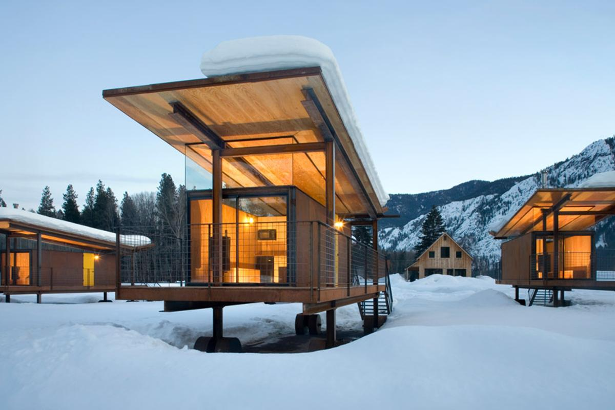 Nestled in Washington's Methow Valley, Rolling Huts offers guests accommodation in several unique eco-huts on wheels
