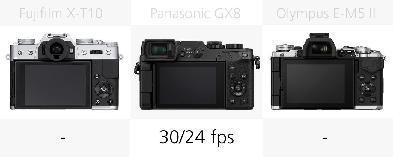 4K video recording comparison Fujifilm X-T10, Panasonic GX8 and Olympus E-M5 II