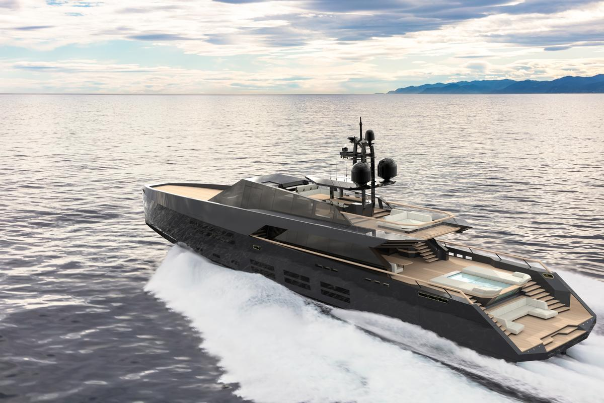 With a diesel powertrain, Wally estimates that the 165 Wallypower can hit 30 knots