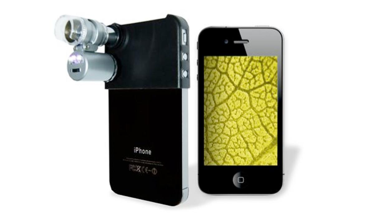 The Mini Microscope for iPhone allows the camera of an iPhone 4 to get close-up images of tiny objects (Photo: Firebox)