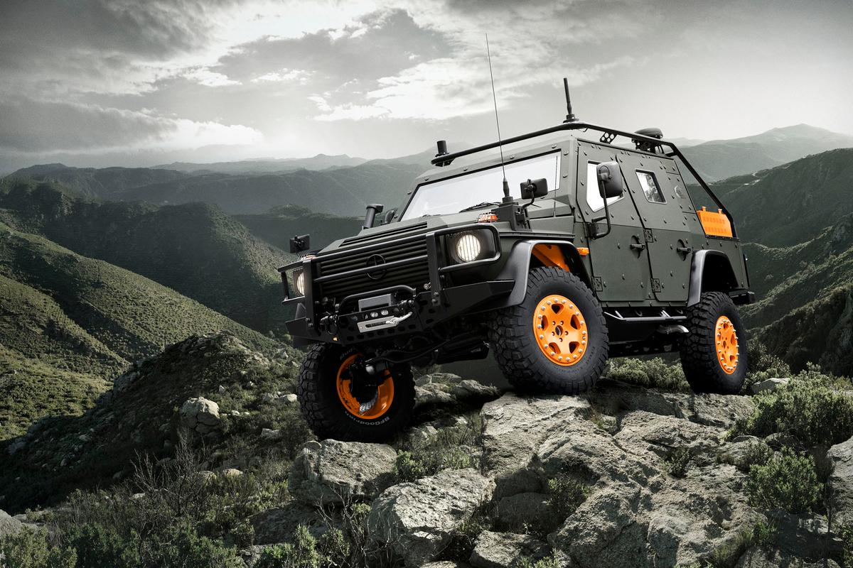 The Mercedes-Benz G-Wagon LAPV 6.X Concept is designed to 'go anywhere'