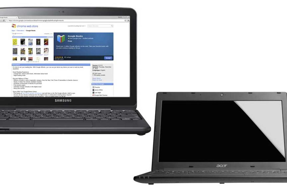 Samsung and Acer will be the first to release web-centric Chromebooks running Google's Chrome OS next month
