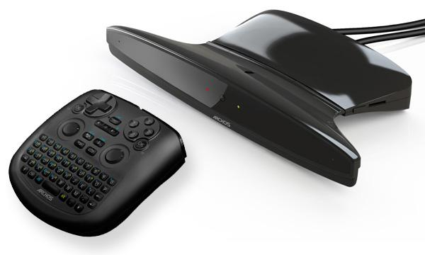 The ARCHOS TV connect base station and included TV Touch remote