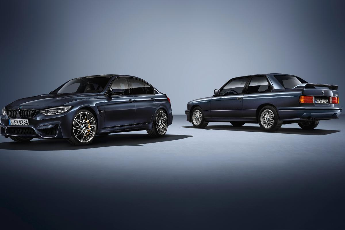 The current M3 with the E30, which launched 30 years ago