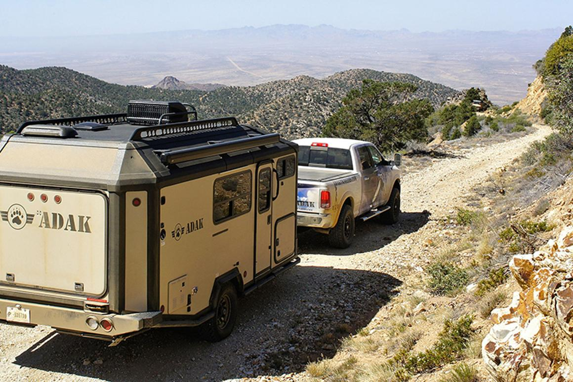 The ADAK Trailer has an aluminum chassis and bonded construction