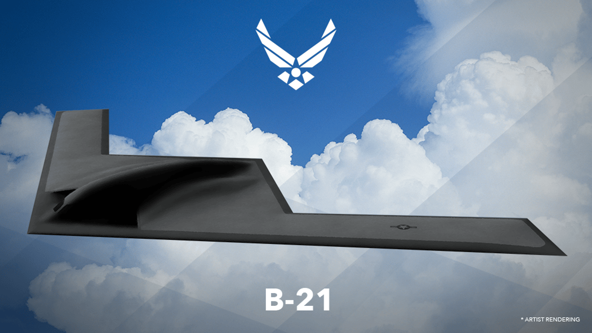 Artist's rendering of the B-21 Raider