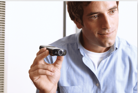 The Logitech Broadcaster Wi-Fi Webcam is small enough to carry around while broadcasting