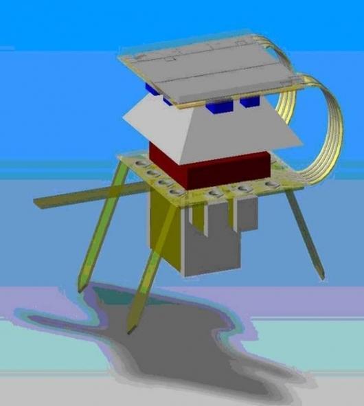 CAD-Design of the I-SWARM robot platform Image: I-SWARM