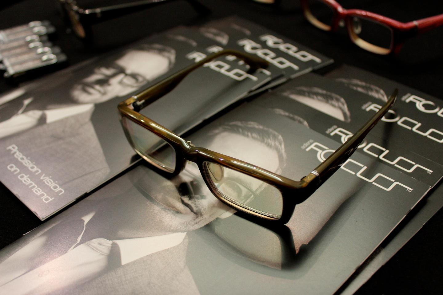 The AdlensFocuss glasses on display at CE Week in New York