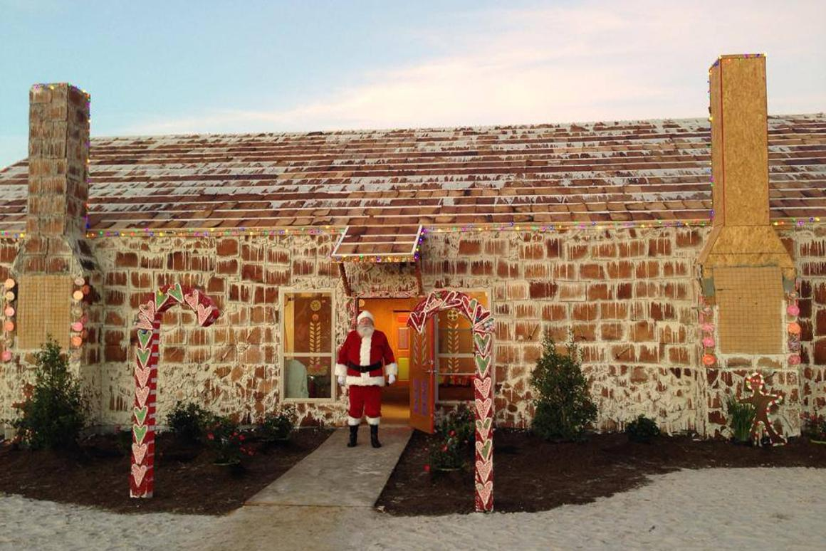 Located at the Traditions Golf Club in Bryan Texas, the larger-than-life gingerbread house officially holds the new Guinness World Record