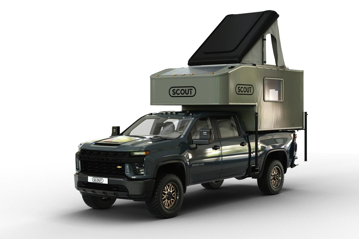The Kenai is the largest in Scout's all-new three-model pickup camper lineup