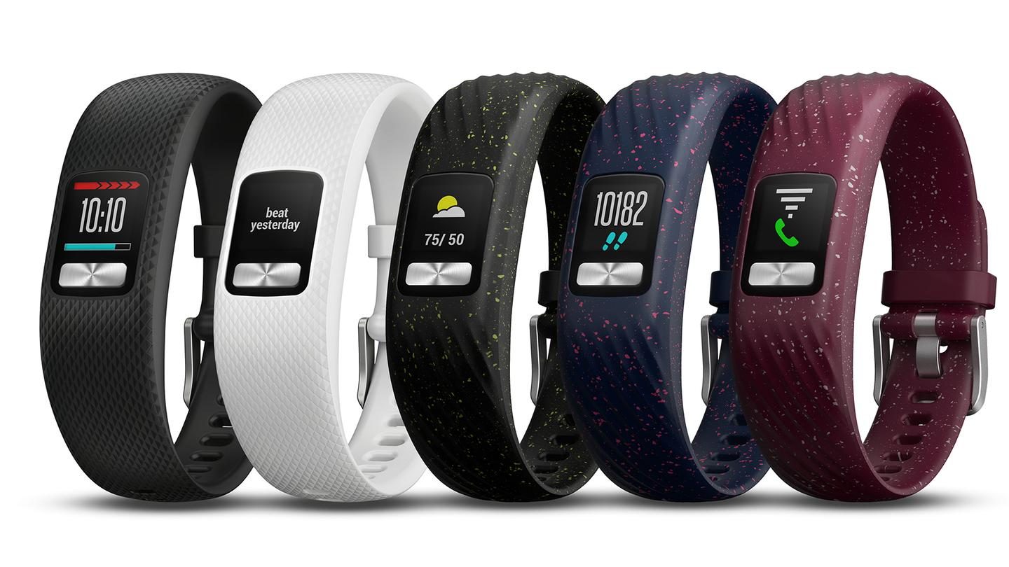 The vivofit 4 adds a color display and a choice of bands to the mix