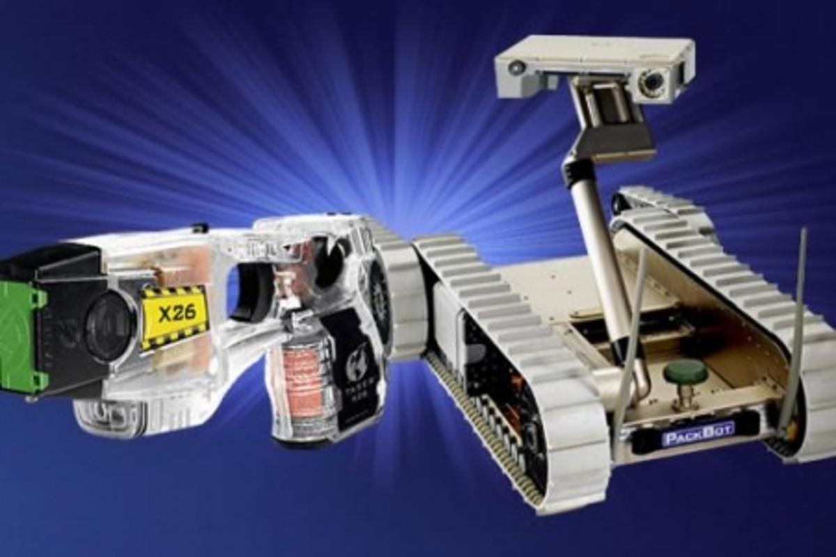 TASER and iRobot are collaborating on a TASER-shooting robot