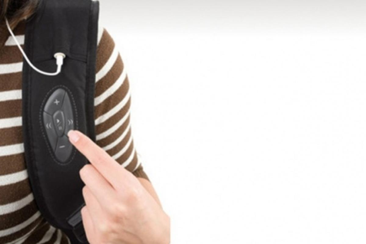 The BacPac Control notebook bag from Dicota has an iPod controller integrated into the shoulder strap(Images: Dicota)