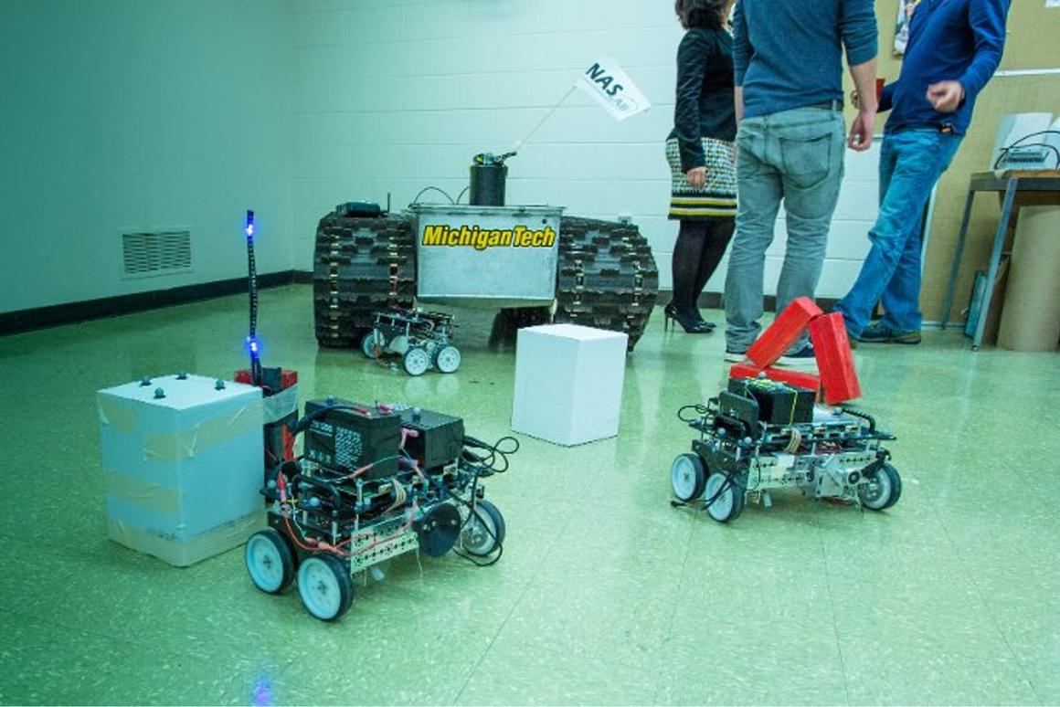 The Michigan Tech robots are still at the proof-of-concept stage