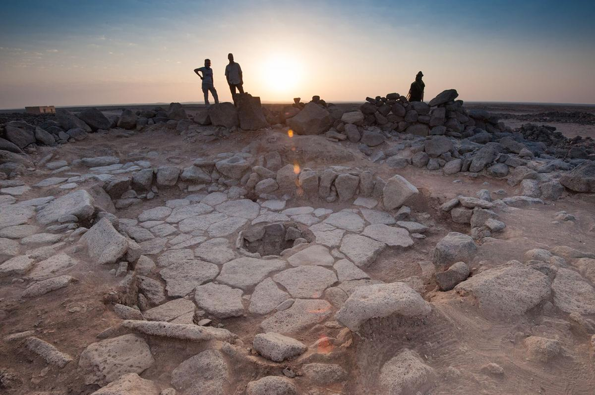 An archaeological site in Jordan, where traces of the oldest bread were found in the 14,400-year old fireplace
