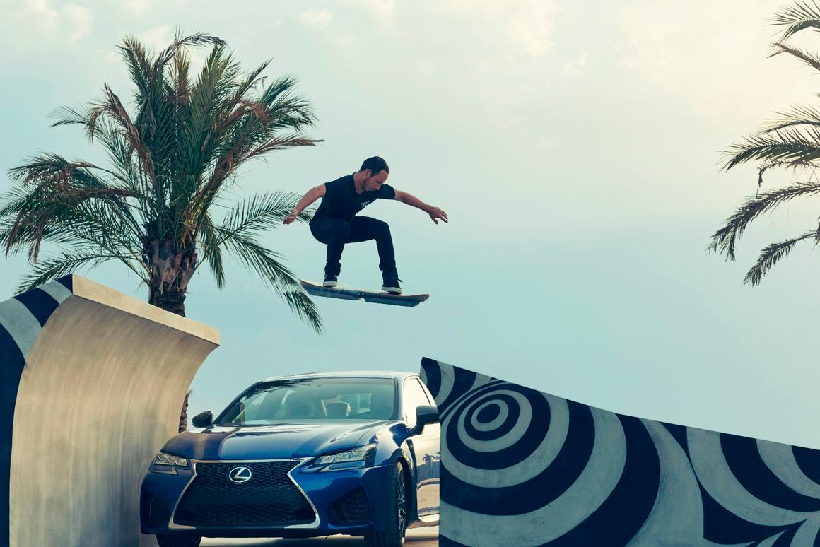 The Lexus Hoverboard in full flight
