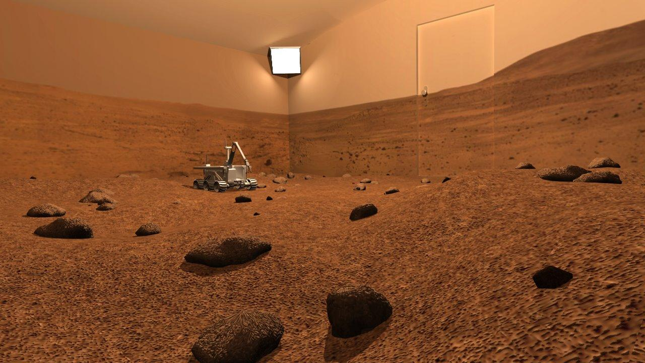 The Remote Mars Yard project would allow internet users to control a physical Mars rover replica, located in a room made to resemble the surface of Mars