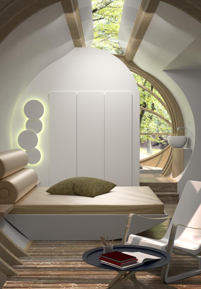 The interior of Drop XL can be configured to suit (Image: Estudibasic)
