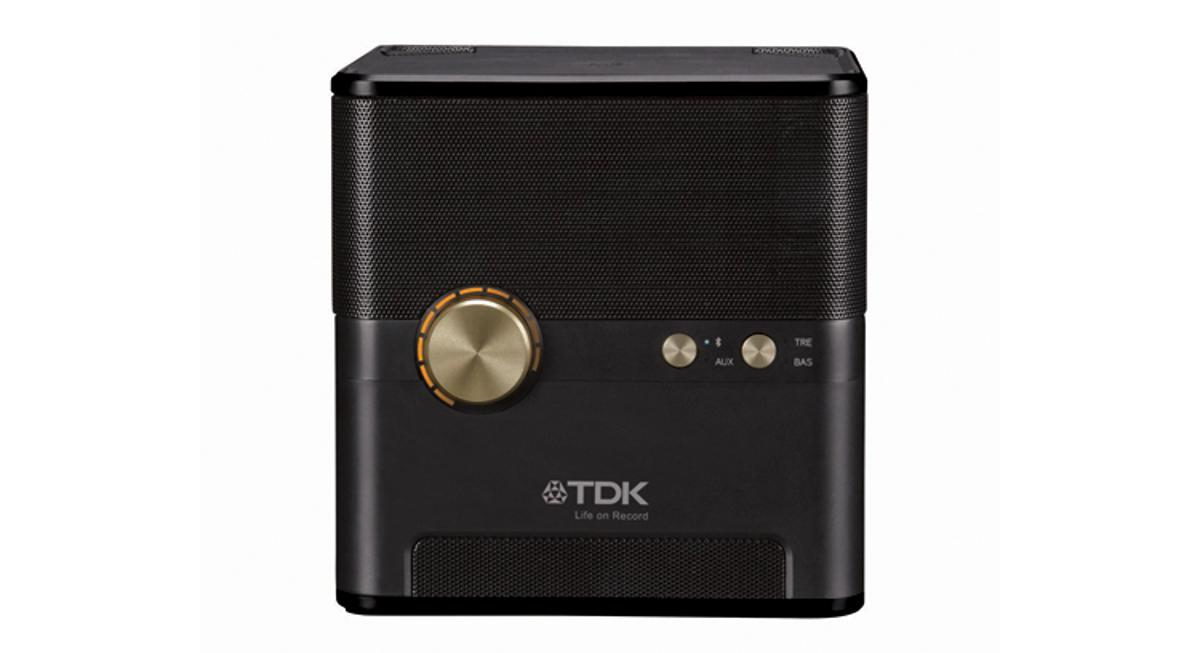 TDK's Wireless Charging Speaker streams music and audio through Bluetooth, while powering any mobile device through an induction charge pad
