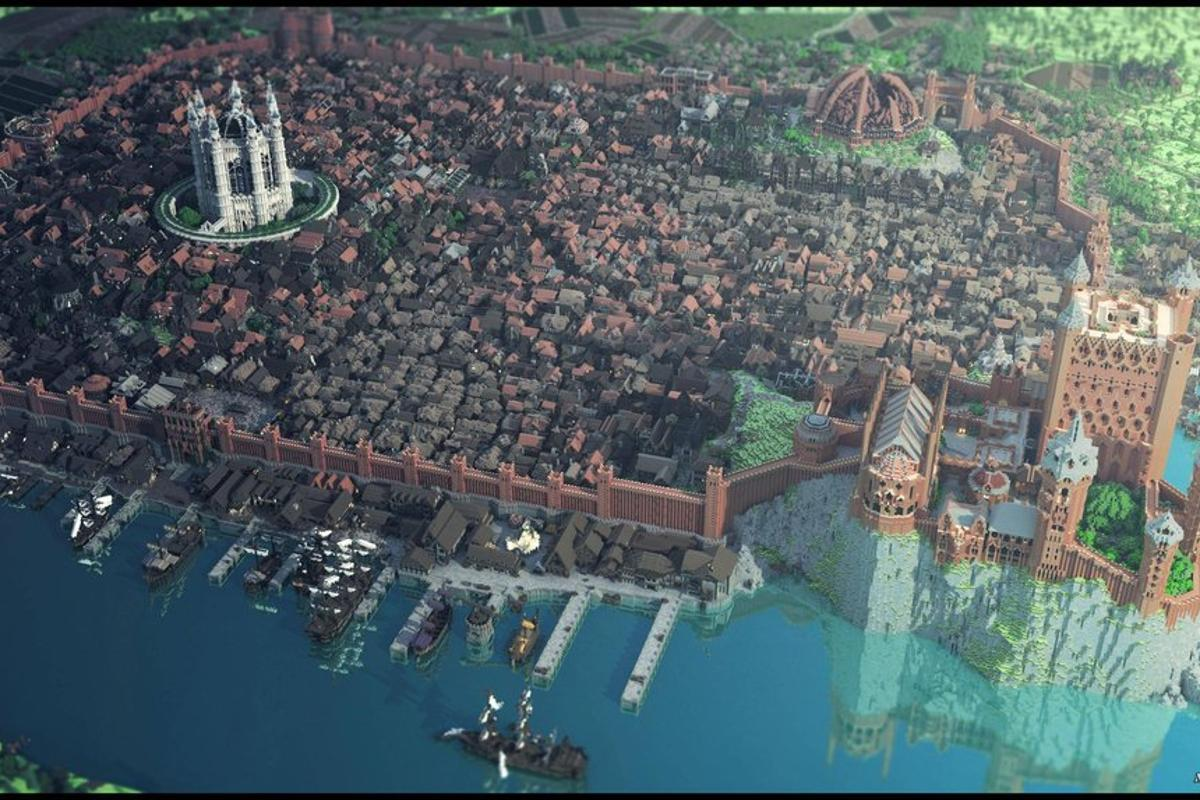 Game of Thrones' King's Landing, Minecraft-style (Image: WesterosCraft)