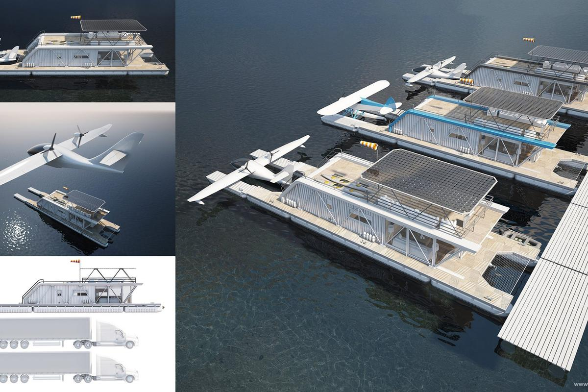 Naval architectMaxim Zhivov and the Baikal Yacht Group havecome up with the HydroHouse, an awesome combination houseboat, dock and seaplane mooring